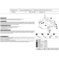 Land Rover Freelander Motor und Getriebeschutz 2.5 - Stahl
