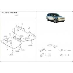 Range Rover / Supercharged Unterfahrschutz 4.2 Kompressor, 4.4l V8 - Alluminium