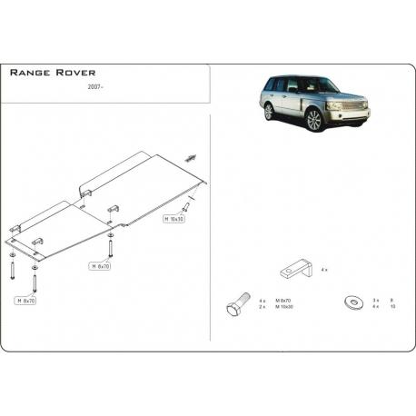 Range Rover / Supercharged Getriebeschutz 4.2 Kompressor, 4.4l V8 - Alluminium