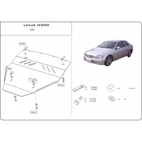 Lexus IS 200 Unterfahrschutz 2.0 - Stahl