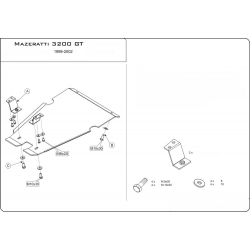 Maserati 3200 (Automaticgetriebe schutz) 3.2 - Alluminium