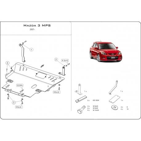 Mazda 3 MPS Motor und Getriebeschutz 2.3 Turbo - Stahl