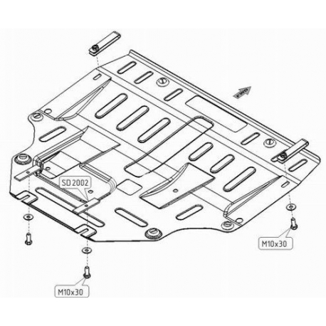 Mazda 6 Motor und Getriebeschutz 1.8 (2wd), 2.0 (2wd) - Stahl