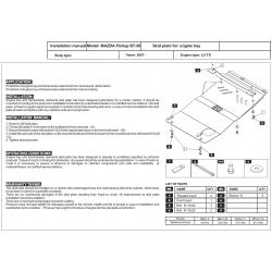 Mazda BT - 50 Unterfahrschutz - Stahl