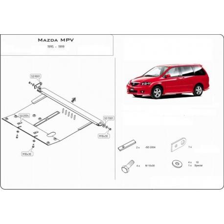Mazda MPV Motor und Getriebeschutz 2.3 - Stahl