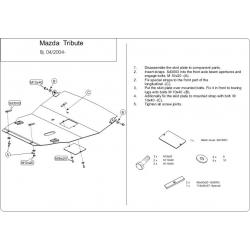 Mazda Tribute Motor und Getriebeschutz 2.0, 2.3 - Stahl