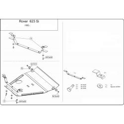 Rover 600 Motor und Getriebeschutz 1.8, 2.0 - Stahl