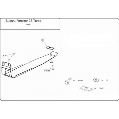 Subaru Forester (Schutz für Differential hintere Achse) 2.0, 2.5, 2.0 S Turbo - Alluminium
