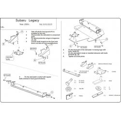 Subaru Legacy IV Unterfahrschutz 2.0, 2.5 - Stahl