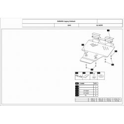 Subaru Outback Unterfahrschutz 3.6 - Alluminium