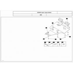 Subaru Outback Motor und Getriebeschutz 2.5 - Stahl