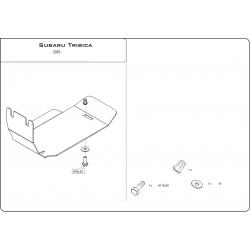 Subaru Tribeca (Schutz für Differential hintere Achse) 3.0, 3.6 - Stahl