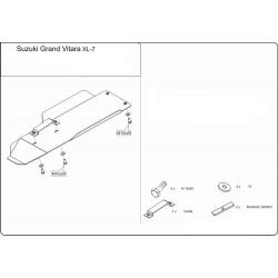 Suzuki Grand Vitara XL-7 Getriebeschutz - Stahl