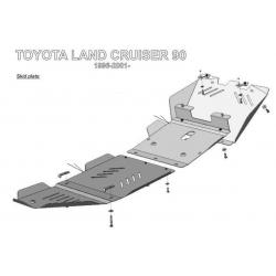 Toyota Land Cruiser 90 / Prado 5-Tür Getriebeschutz - Alluminium
