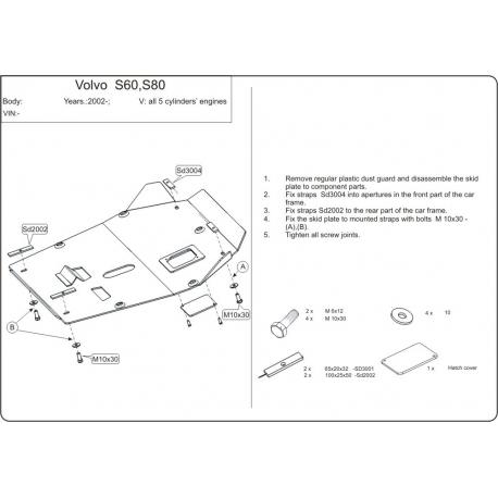 Volvo S60 Motor und Getriebeschutz - Alluminium