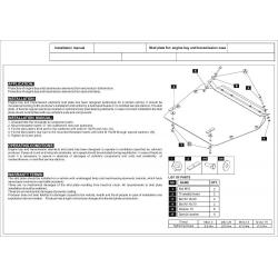 Volvo S70 / V70 Motor und Getriebeschutz - Stahl