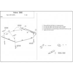 Volvo S80 Motor und Getriebeschutz - Stahl
