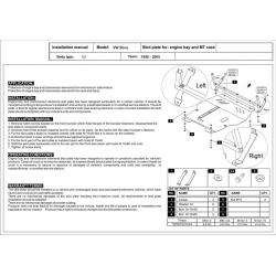 VW Bora Motor und Getriebeschutz 1.6, 1.8, 2.0, 1.9 TDI - Stahl