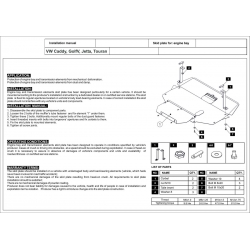 VW Jetta Motor und Getriebeschutz - Stahl