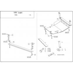 VW Lupo Motor und Getriebeschutz 1.0 - Stahl