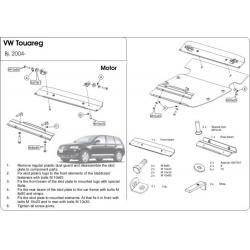 VW Touareg Unterfahrschutz 2.5l, 3.2l, 3.6l, 3.0TDI, 4.2l, 5.0l - Stahl