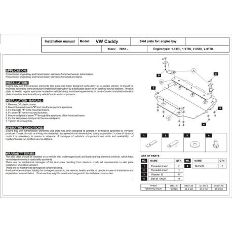 VW Touran Motor und Getriebeschutz 2.0TDI - Stahl