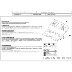 Toyota Land Cruiser 120 / Prado (Abdeckung der Lenkung) 3.0 TD - Stahl