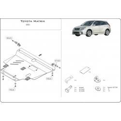Toyota Matrix Motor und Getriebeschutz 1.8 - Stahl