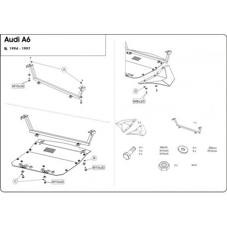 Audi 100 Unterfahrschutz 2.0, 2.0 E quattro - Stahl
