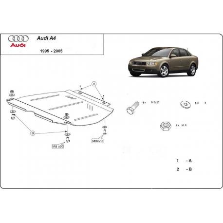 Audi A4 Getriebeschutz 2.5 TDi - Stahl