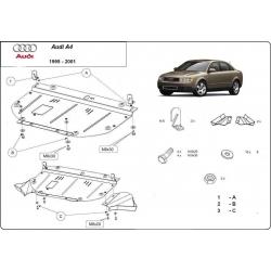 Audi A4 Unterfahrschutz 1.6 - 2.0, 1.9TDi - Stahl