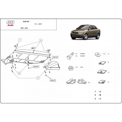 Audi A4 Unterfahrschutz 2,6 V6, 2.8B, 2.5D - Stahl
