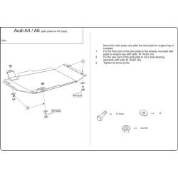 Audi A4 (Automaticgetriebe schutz) - Stahl