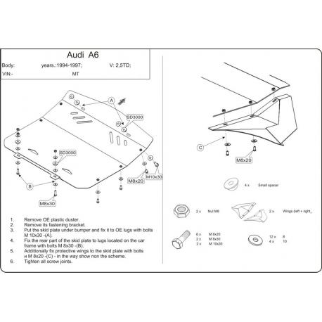 Audi A6 Unterfahrschutz 2.5 TDI - Stahl