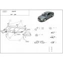 Audi A6 (kryt pod motor) 2.6, 2.8, 2.5D, 2.4T