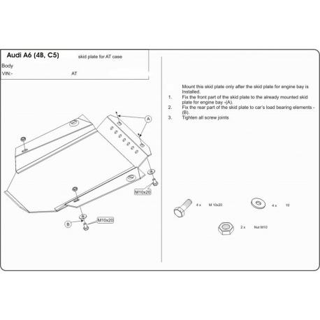 Audi A6 Getriebeschutz - Stahl
