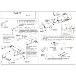 Audi A8 Motor und Getriebeschutz 2.8 - Stahl