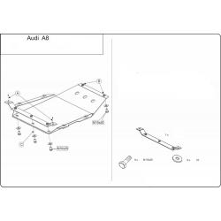 Audi A8 Getriebeschutz 3.7, 4.2 - Stahl