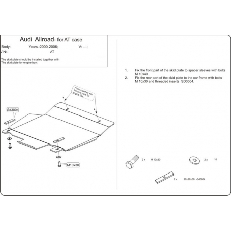 Audi Allroad (Automaticgetriebe schutz) - Alluminium