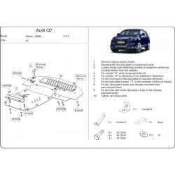 Audi Q7 ne s Off Road Style Paket Unterfahrschutz 3.6 FSI, 4.2 FSI - Alluminium