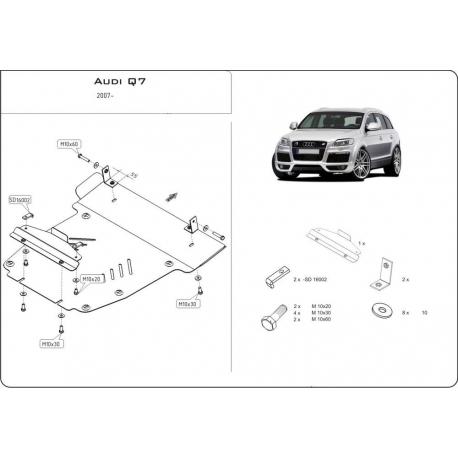 Audi Q7 Offroad Style Paket Unterfahrschutz - Alluminium