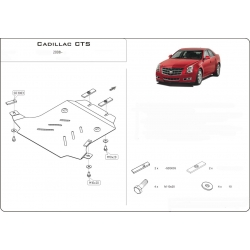 Cadillac CTS II Unterfahrschutz 2.8, 3.6 - Alluminium