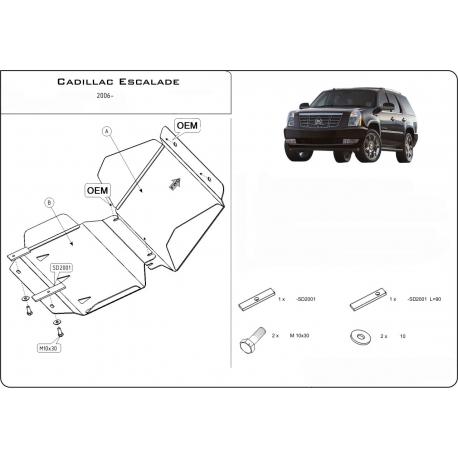 Cadillac Escalade III Unterfahrschutz 6.2 V8 - Stahl