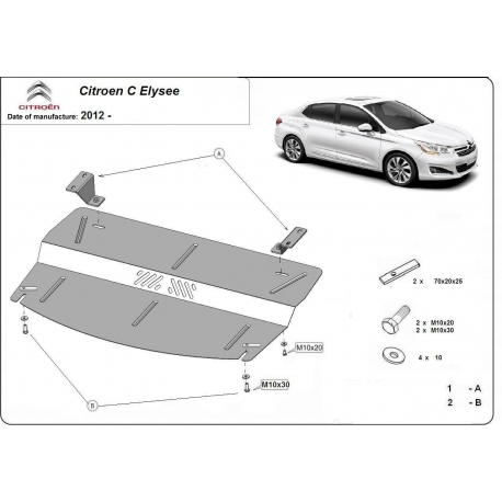 Citroen C Elysee Unterfahrschutz - Stahl