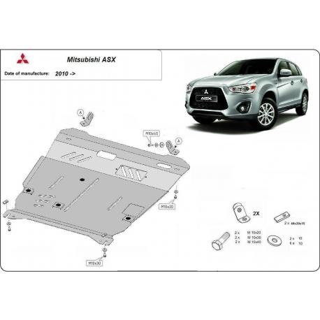 Mitsubishi ASX Unterfahrschutz - Stahl