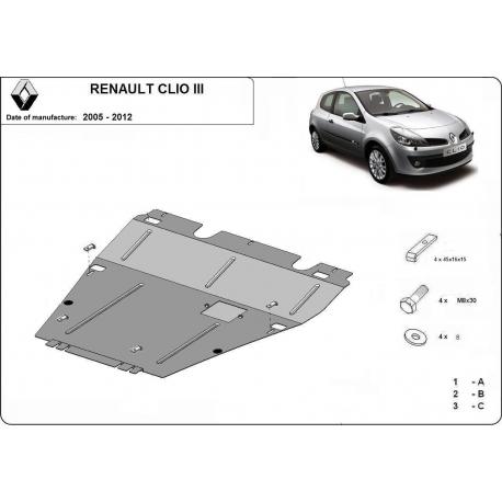 Renault Clio III Unterfahrschutz - Stahl