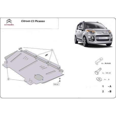 Citroen C3 Unterfahrschutz - Stahl