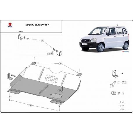 Suzuki Wagon R+ Unterfahrschutz - Stahl