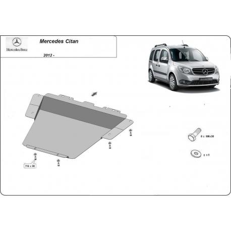 Mercedes Citan Unterfahrschutz - Stahl