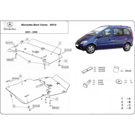 Mercedes Vaneo Unterfahrschutz - Stahl